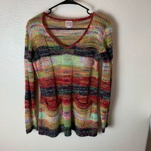 Canyon River Blues Colorful Sweater Large